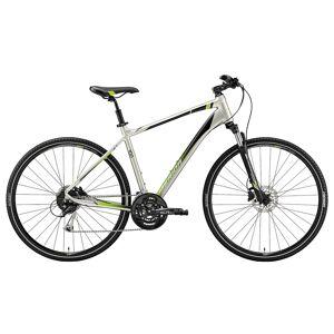 Merida Crossway 100 Hybridsykkel Silk Titan/Green L 2019