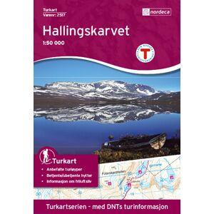 Nordeca Hallingskarvet DNT 1:50 00 kart  2018