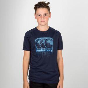 Canterbury Vapodri Poly Logo Kids T-Shirt Navy 8YRS