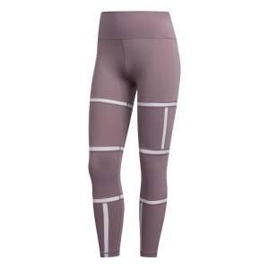 Adidas Believe This Geo Mesh Long Tights Dame - Lilla