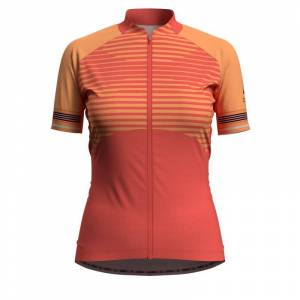 Odlo Women's Stand-Up Collar Zeroweight Ceramicool Oransje