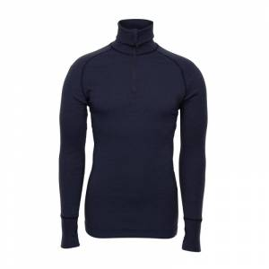 BRYNJE Arctic Zip Polo Shirt with Thumbfingergrip Blå