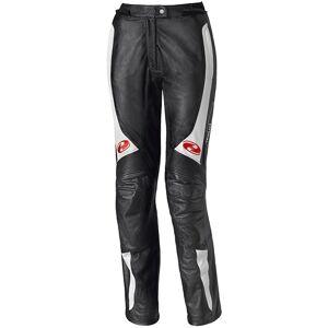 Held Sarana Kvinners Motorsykkel skinn bukser Svart Hvit M