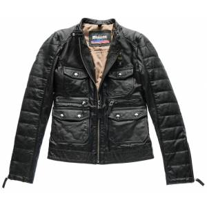 Blauer USA Rider Pocket Padded Skinn jakke Svart L