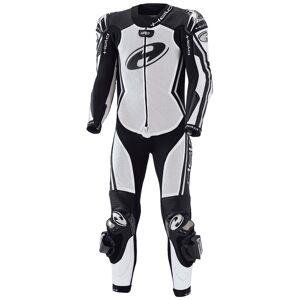 Held Full Speed Ett stykke kvinners Motorsykkel skinn Dress Svart Hvit 38
