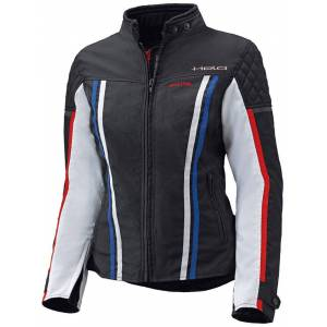 Held Jill Ladies tekstil jakke Svart Hvit Rød Blå 2XL