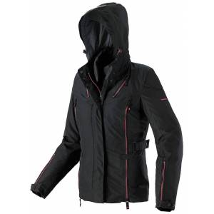 Spidi Stormy H2Out Ladies motorsykkel tekstil jakke Svart Rosa L