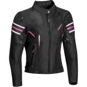 Ixon Ilana Ladies motorsykkel tekstil jakke Svart Rosa 2XL