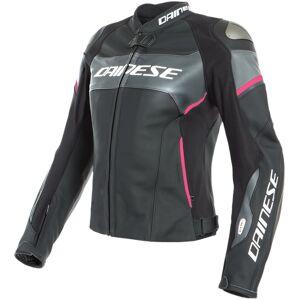 Dainese Racing 3 Lady D-Air® Airbag Ladies motorsykkel skinnjakke Svart Rosa 40