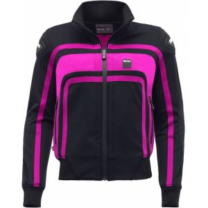 Blauer Easy Rider Ladies motorsykkel tekstil jakke Svart Rosa XS