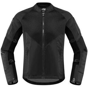Icon Mesh AF Ladies motorsykkel tekstil jakke Svart XS