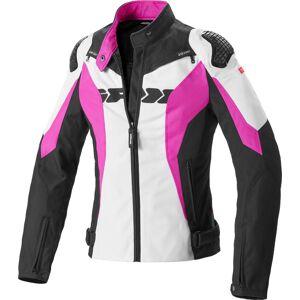 Spidi Sport Warrior Tex Women Motorcycle Tekstil jakke Svart Hvit Rosa XS