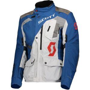 Scott Dualraid Dryo Ladies motorsykkel tekstil jakke Grå Blå 38