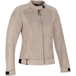 Bering Riko Kvinners motorsykkel tekstil jakke Beige 42