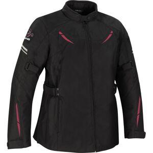 Bering Penelope Stor størrelse kvinner motorsykkel tekstil jakke Svart Rosa L