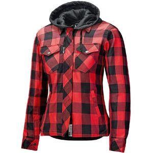 Held Lumberjack II Ladies motorsykkel tekstil jakke Svart Rød XL