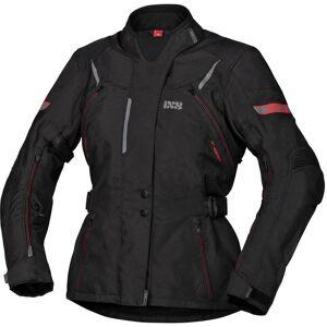 IXS Tour Liz-ST Ladies motorsykkel tekstil jakke Svart Rød L