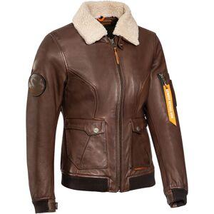 Ixon Havoc Ladies motorsykkel skinnjakke Brun XL