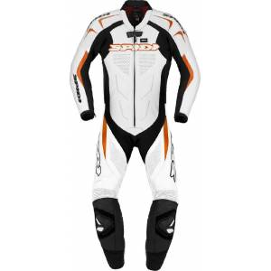 Spidi Supersport Wind Pro Ett stykke Motorsykkel skinn Dress 46 Hvit Oransje
