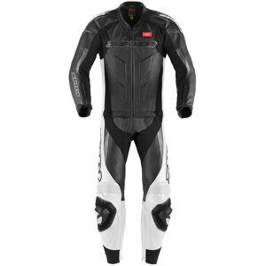 Spidi Supersport Touring To stykke Motorsykkel skinn Dress 50 Svart Hvit