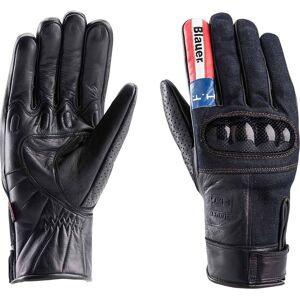 Blauer Combo Carbon Denim USA Motorcycle Gloves Motorsykkel Hansker XS Svart