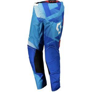 Scott 350 Dirt Motocross bukser 2018 34 Hvit Blå