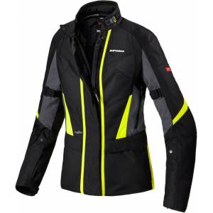 Spidi Traveler 2 Ladies motorsykkel tekstil jakke L Svart Gul