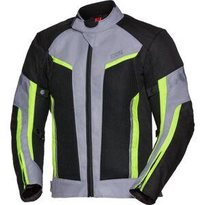 IXS Sport Ashton-Air Motorsykkel tekstil jakke 3XL Svart Grå Gul