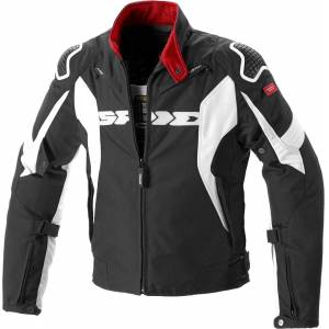 Spidi Sport Warrior H2Out Motorsykkel tekstil jakke M Svart Hvit