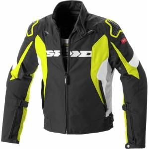 Spidi Sport Warrior H2Out Motorsykkel tekstil jakke L Svart Gul