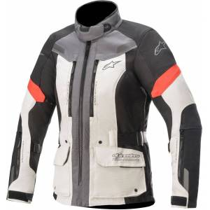 Alpinestars Stella Valparaiso V3 Drystar Ladies motorsykkel tekstil jakke S Svart Grå