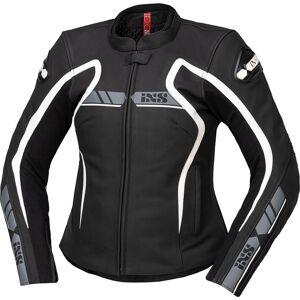 IXS RS-600 1.0 Ladies Motorsykkel skinnjakke 36 Svart Grå Hvit