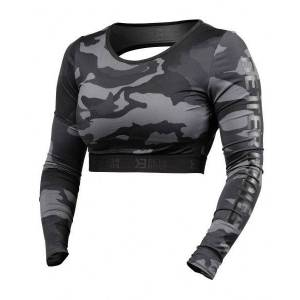Better Bodies Chelsea Cropped Long Sleeve Dark Camo