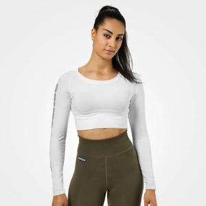 Better Bodies Bowery Cropped ls - White
