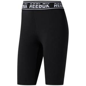 Reebok Workout Ready Meet You There Fitted Shorts - Sort