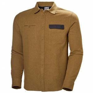 Helly Hansen Wool Ls Shirt S Brown