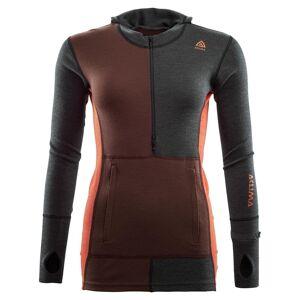 Aclima Warmwool Hooded Sweater w/zip Dam Marengo/Bitter Chocolate/Burnt Ochre