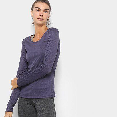 Camiseta Adidas Manga Longa 3S Ls Feminina - Feminino
