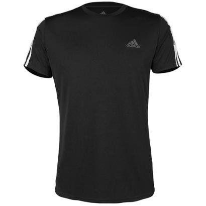 Camiseta Adidas Run 3Stripes Masculina - Masculino