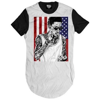 Camiseta Longline American Khalifa Masculina - Masculino