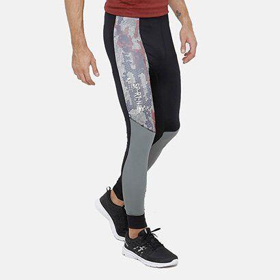 Calça Legging Reebok Compressão Sr Masculina - Masculino-Preto