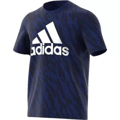 Camiseta Adidas Ess Aop Masculina - Masculino-Azul