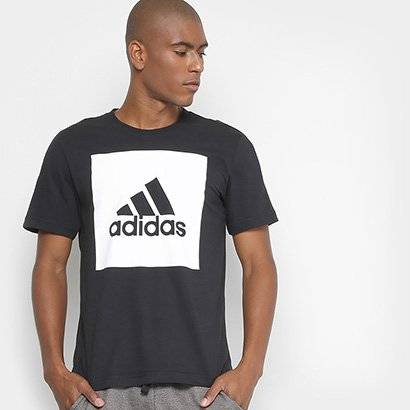 Camiseta Adidas Ess Biglogo Masculina - Masculino-Preto