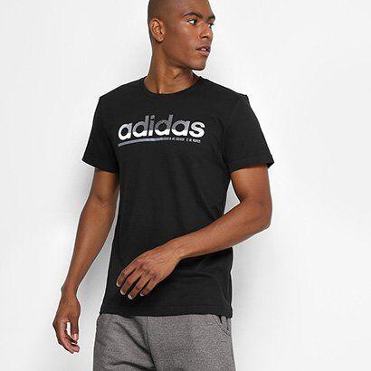 Camiseta Adidas Fading Linear Masculina - Masculino-Preto
