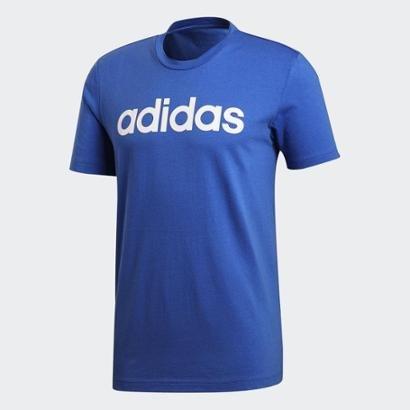 Camiseta Adidas Logo Masculina - Masculino-Azul