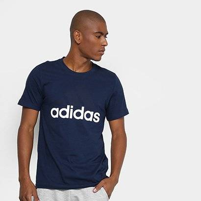 Camiseta Adidas Mc Ess Linear Masculina - Masculino-Marinho