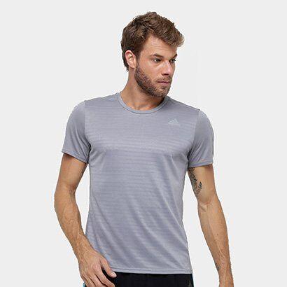 Camiseta Adidas Response Masculina - Masculino-Cinza