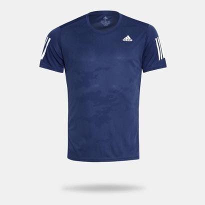 Camiseta Adidas Rs Ss Masculina - Masculino-Azul