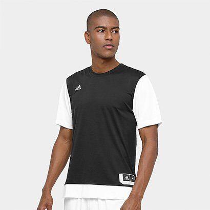 Camiseta Adidas Teamstock Shoot Masculina - Masculino-Preto