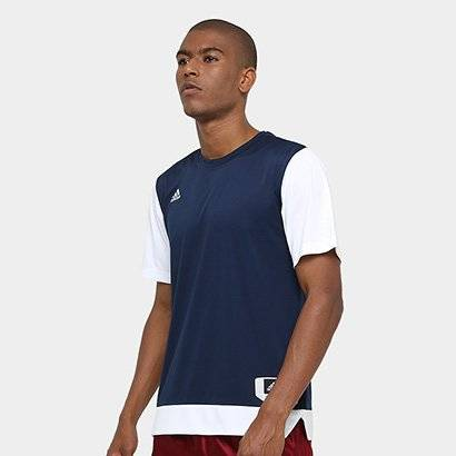 Camiseta Adidas Teamstock Shoot Masculina - Masculino-Marinho